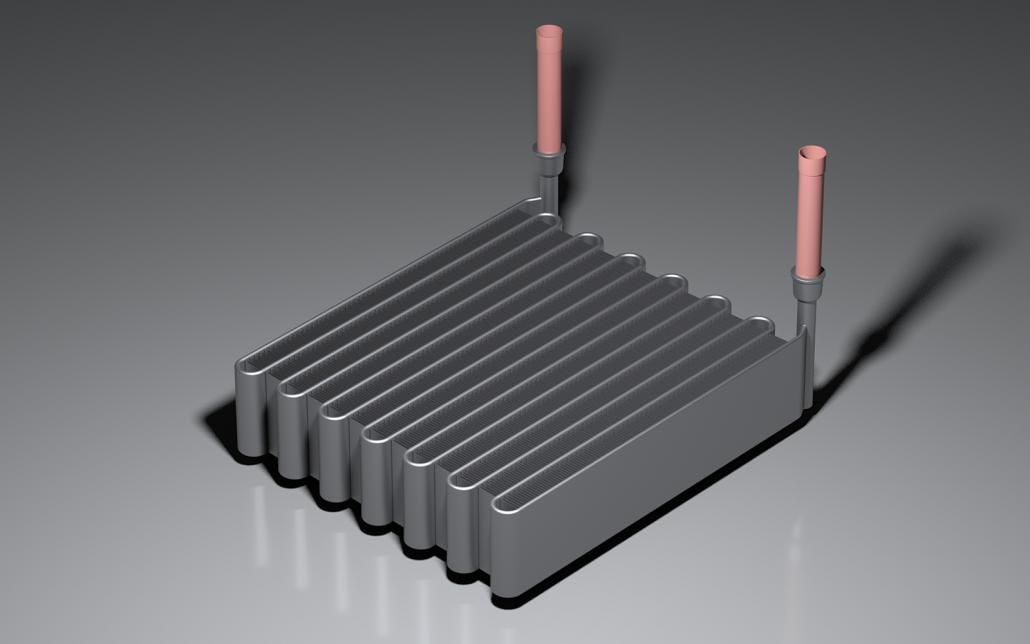 Serpentine microchannel coil
