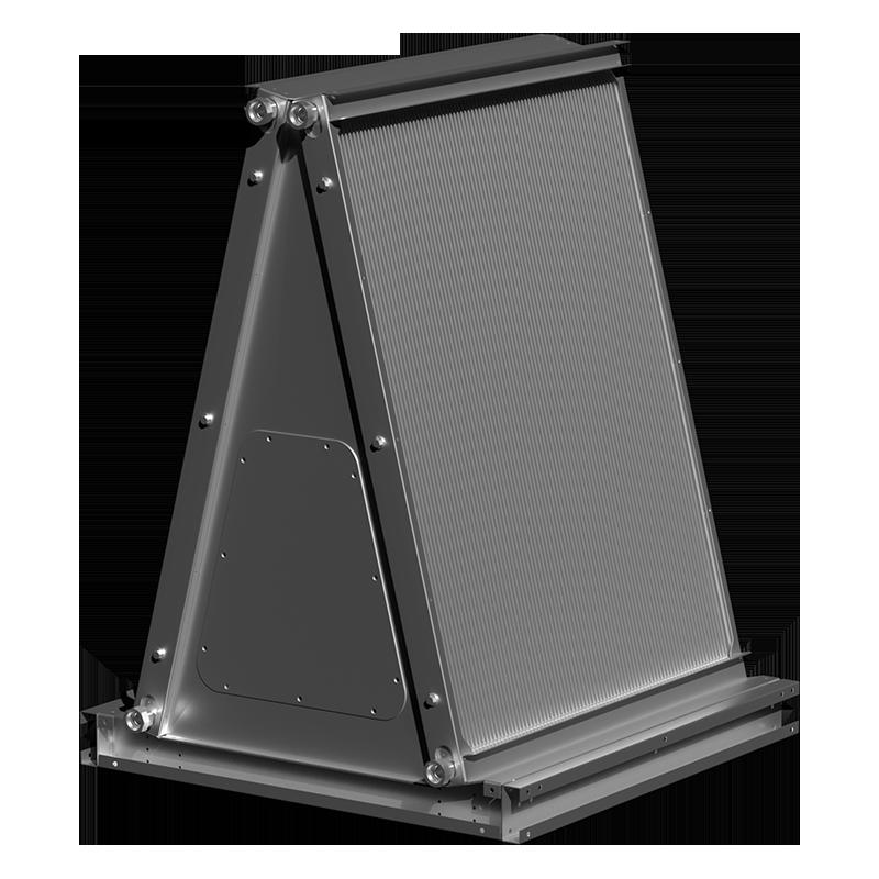 A-shaped microchannel evaporator