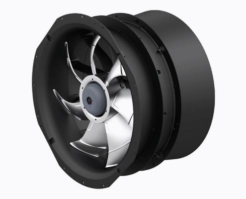 Axial EC-fan with diffuser