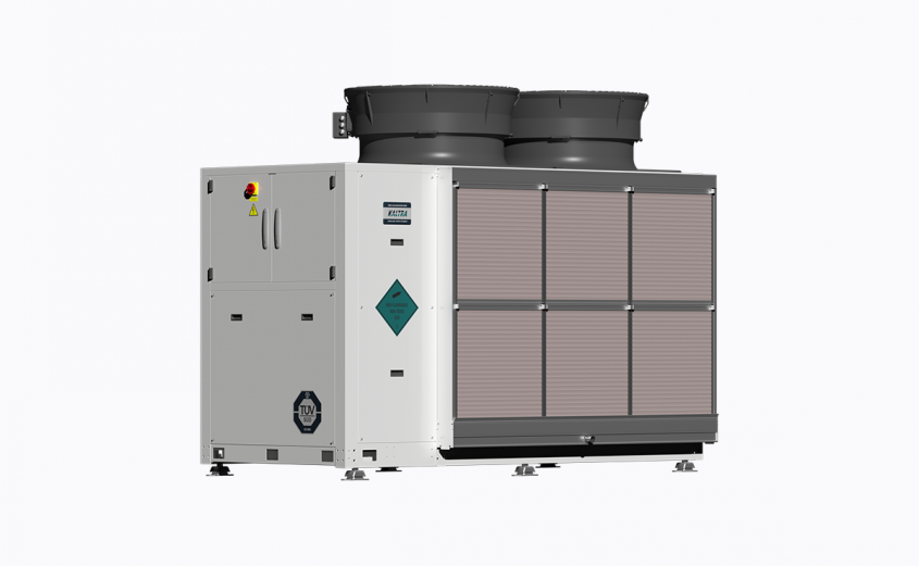 Evaporatively-cooled chiller
