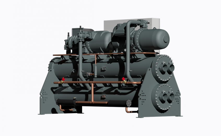 Variable-speed water-cooled chiller