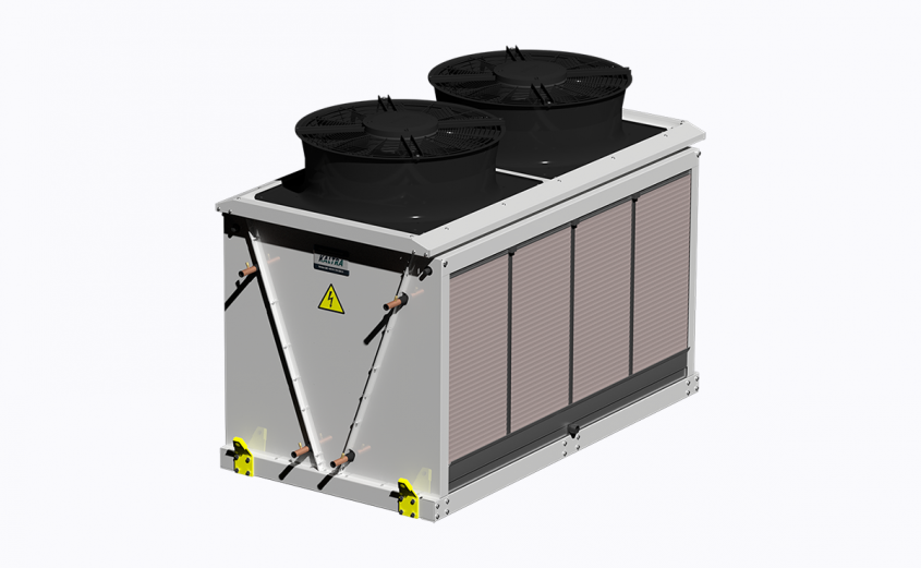 Evaporatively-cooled condenser