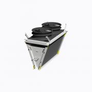 Microchannel condenser bank