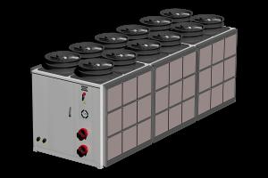 Hybrid evaporative dry cooler